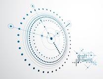 Piano tecnico, progetto astratto di ingegneria per uso in grafico illustrazione vettoriale