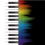 Piano template Stock Image