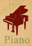 Piano - thème musical Photo libre de droits