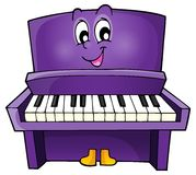 Piano theme image 1 Royalty Free Stock Images