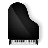 Piano in top view Royalty Free Stock Photo