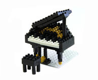 Piano toy made from plastic toy blocks Royalty Free Stock Photography