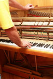 Piano tuner Royalty Free Stock Photos