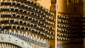 Piano tuning sockets Royalty Free Stock Images