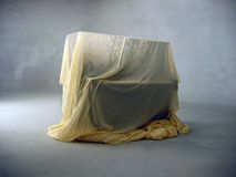 Piano under cloth Royalty Free Stock Photography
