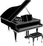 Piano Vector 01. Antique Piano High Detail Vector Stock Photos