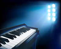 Piano. Vector illustration. Electronic piano. Stage before the concert Royalty Free Stock Image