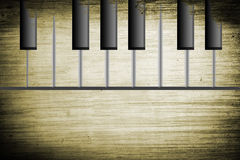 Piano velho Imagem de Stock