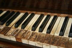 Piano velho Fotografia de Stock