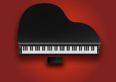 Piano. Vevtor image of classic piano Royalty Free Stock Images
