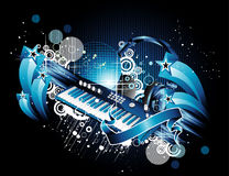 Piano and vintage Royalty Free Stock Images