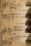 Piano. Vintage background Royalty Free Stock Image