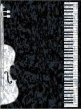 Piano and Violon Stock Photo
