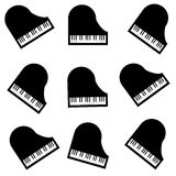 Piano on white background. Vector illustration Royalty Free Stock Images