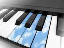 Piano in wolken Stock Fotografie