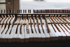At the piano workshop Royalty Free Stock Photo