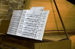Piano y música Imagen de archivo libre de regalías