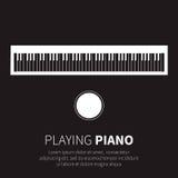 Piano y silla Fotos de archivo libres de regalías