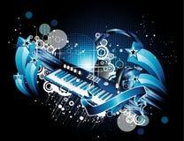 Piano y vendimia stock de ilustración