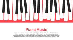 Piano on a yellow background. royalty free illustration