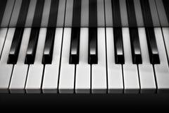 Piano/Zwart-wit Royalty-vrije Stock Afbeeldingen