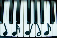 Pianoanmärkning Arkivbilder