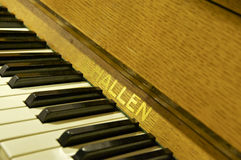 PianoCloseup; Abbey Road Studios London Royaltyfri Foto