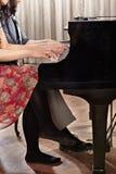 Pianoduett Royaltyfria Foton