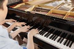 Pianoduett Arkivfoton