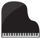 Pianoforte a coda Immagine Stock