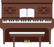 Pianoforte verticale Immagini Stock Libere da Diritti