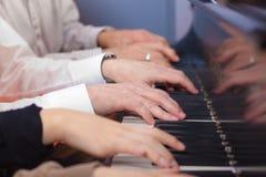 Pianohänder Royaltyfria Bilder
