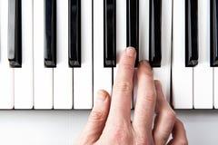 Pianohand Arkivbild