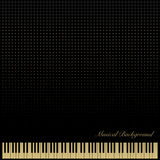 PianoKeyboardBlackBackground Fotografie Stock Libere da Diritti
