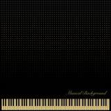 PianoKeyboardBlackBackground Royalty Free Stock Photos