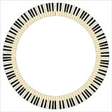 Pianom Keys Circle Royalty Free Stock Images