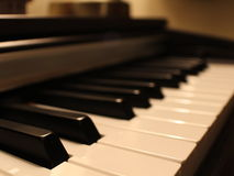 Pianomiddelen zacht Stock Foto's