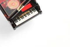 Pianomodel op wit wordt geïsoleerd dat Royalty-vrije Stock Fotografie