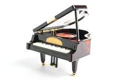 Pianomodel op wit wordt geïsoleerd dat Stock Afbeeldingen