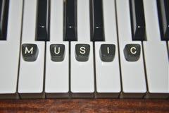 Pianomuziek Royalty-vrije Stock Fotografie