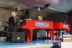Pianos rouges lumineux Images libres de droits