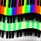 Pianosleutels in de vorm van golven Stock Afbeeldingen