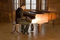 pianospelare Arkivfoto