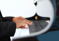 pianospelare Royaltyfri Foto