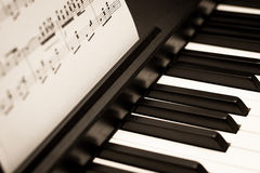 Pianot skrivar Arkivfoton