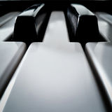 Pianot stämmer perspektiv Arkivbild