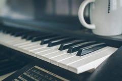 Pianotangent Arkivfoto
