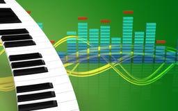 pianotangentbord för mellanrum 3d Royaltyfri Fotografi