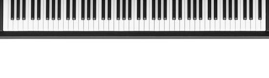 Pianotangentbord på vit bakgrund Royaltyfri Bild