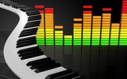 pianotangenter för mellanrum 3d Royaltyfri Foto